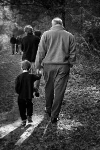 Choose Good Stuff Papa and child walking