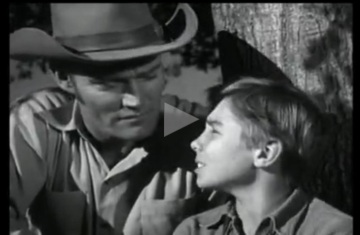 The Rifleman talks to his son