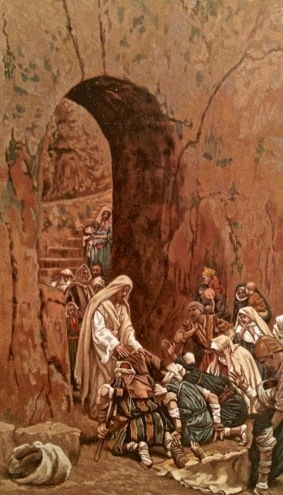 "Tissot print ""Christ healing the Sick"""
