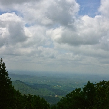 Vista View of Valley With Clouds
