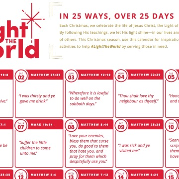 Calendar- Light the World Mormonl.org