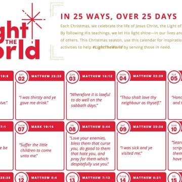 Calendar- Light the World Mormonl.org