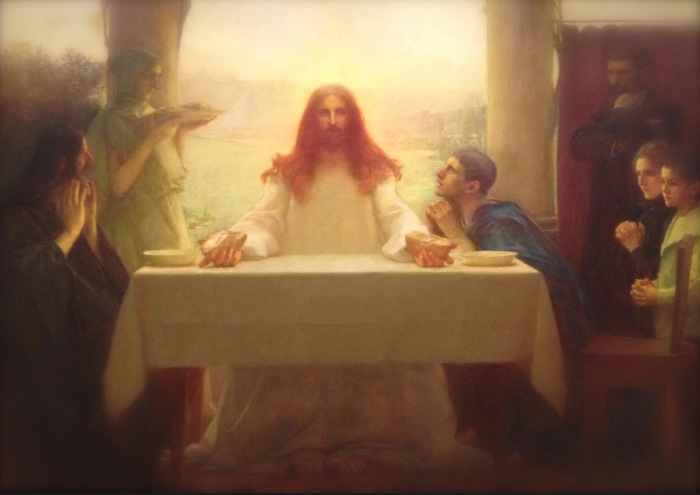 Painting of Christ's last supper