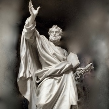 Apostle Peter Statue in St. John's Rome Italy