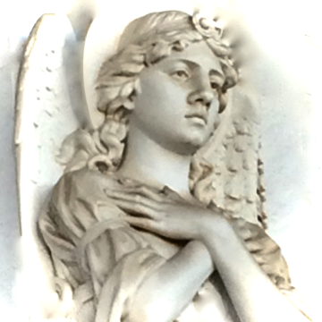 Statue of Angel Praying Borghese Museum Rome Italy